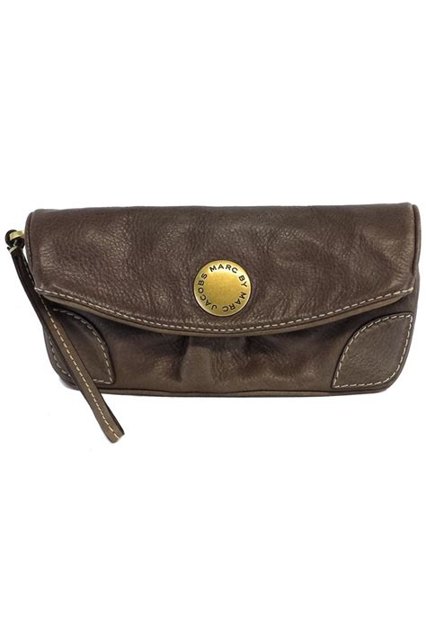 Marc By Marc Leather Clutch by Marc By Marc Taupe Leather Clutch Current Boutique