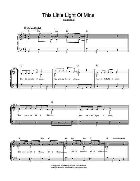 this little light of mine sheet music free download this little light of mine sheet music by african american