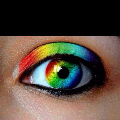 rainbow colored contacts colored contacts rainbow makeup nails