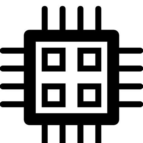 chip electronics microchip nano technology icon