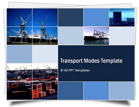 template ppt logistics free powerpoint transport modes template