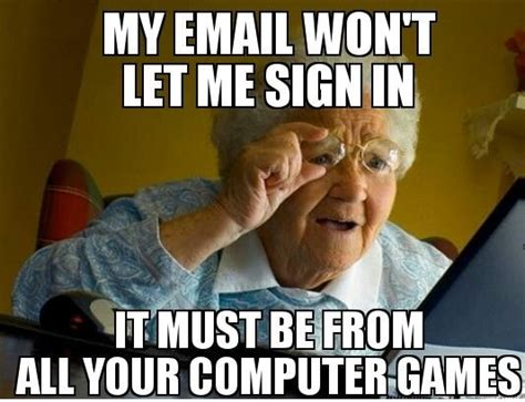 Grandmother Meme - old people computer meme www imgkid com the image kid