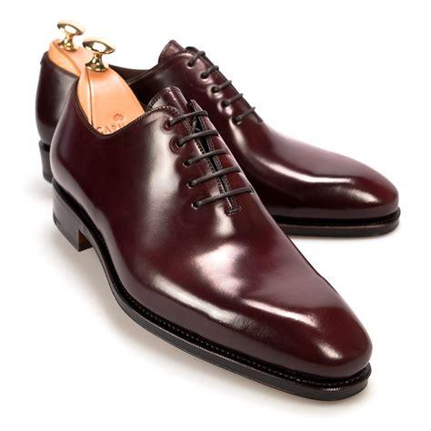 cordovan oxford shoes wholecut oxford in cordovan burgundy carmina