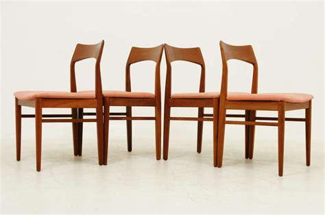 set of four danish modern teak dining room chairs for sale danish modern set of four teak dining chairs at 1stdibs
