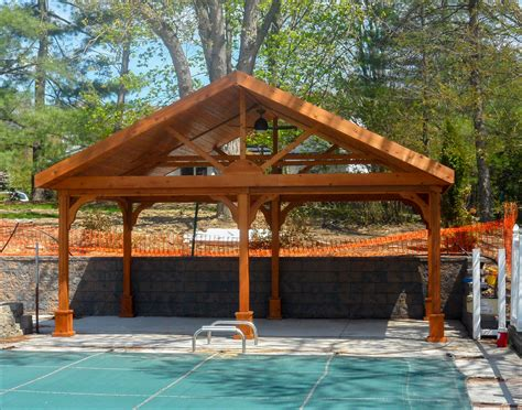 pavillon 6x6 customer s photo 12 x 20 cedar gable ramada