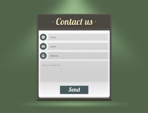 Form Templates Contact Us Page Template Html