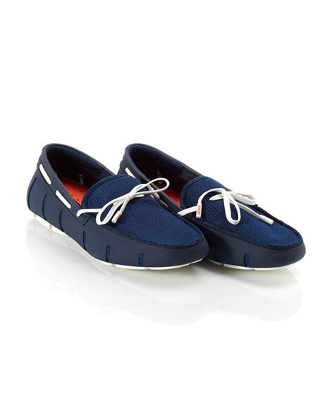 swims navy lace loafer swims mens loafers navy and white lace mesh loafer