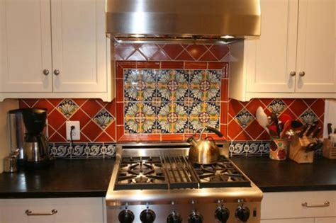 mexican tile backsplash kitchen wood shavings 187 archive 187 add a pop of color with a vibrant backsplash