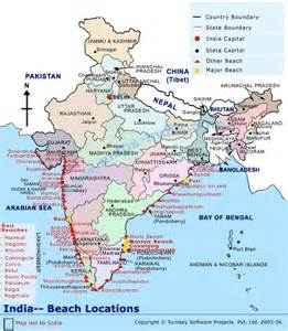 beaches in india map map india