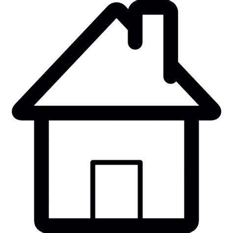 home interface symbol of a house icons free