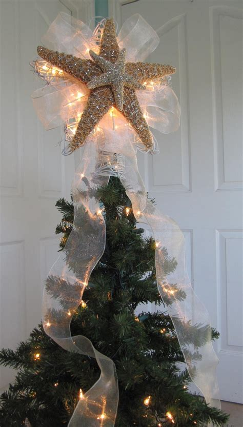 lighted christmas tree star starfish tree topper