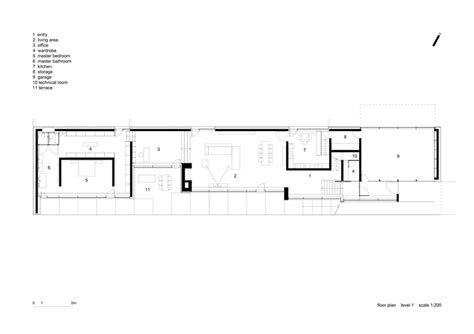 long floor plans slight slope long house i o architects archdaily