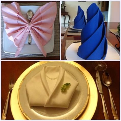 Fancy Paper Napkin Folding Ideas - pin by melhuish on napkin folding so