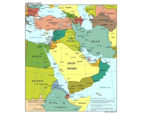 Middle East Search Large Map Of Middle East Images