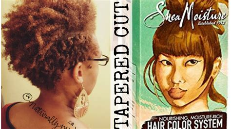 shea moisture hair color system tapered haircut and color with shea moisture hair color