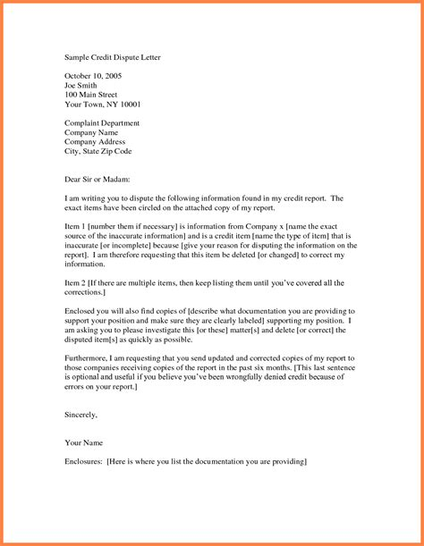 Business Letter To Creditors Template inspirational dispute credit report letter cover letter
