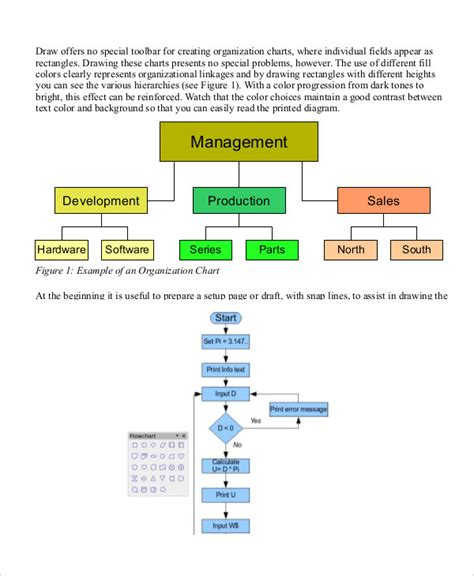 organizational flow chart template free organizational chart 9 free word pdf documents