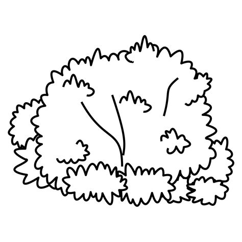 Coloring Page Bush Coloring Pages Plants And Fungi Free Downloads