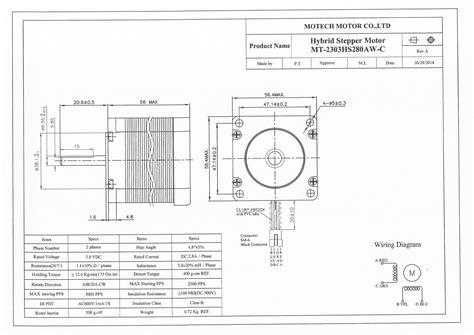nema 23 stepper motor wiring diagram model color wiring