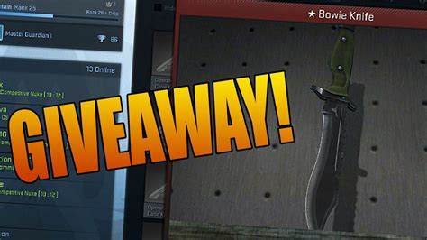 Cs Go Case Giveaway - bowie knife giveaway cs go case opening part 32 youtube