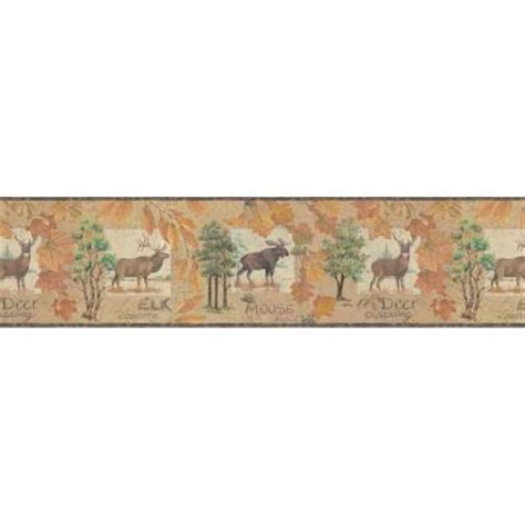 bathroom wallpaper borders home depot york wallcoverings 9 in deer crossing wallpaper border lm7920bd the home depot