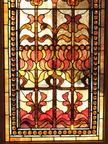 Whimsical Chandeliers Large Stained Glass Window Panel Renew Gallery