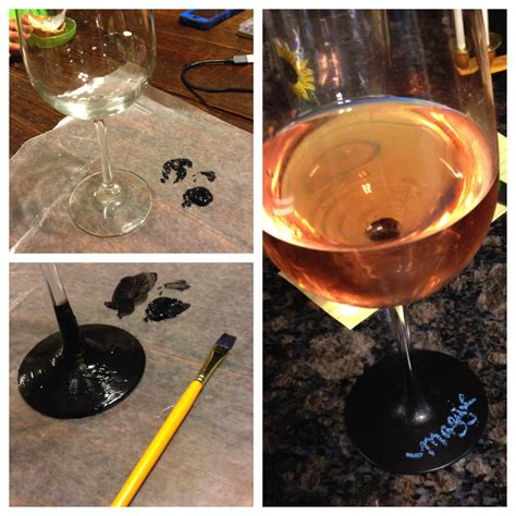 diy chalk paint wine glasses chalkboard paint wine glasses diy for