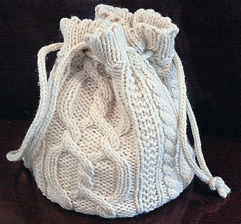 knitted backpack cabled bag pattern by dianna