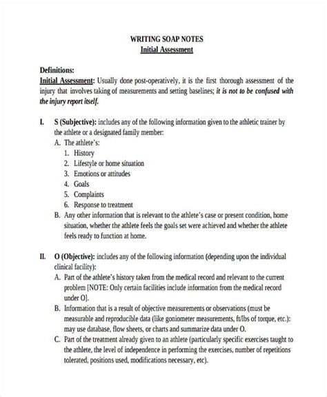 14 Soap Note Exles Pdf Comprehensive Soap Note Template