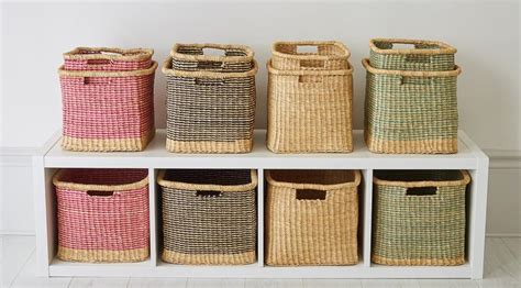 Square and rectangular storage baskets hand woven baskets from ghana the basket room