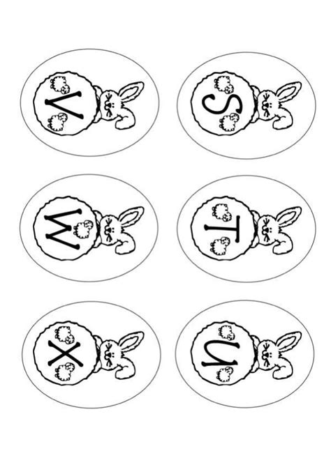 easter alphabet coloring pages easter bunny coloring pages bunny letters stuvwx