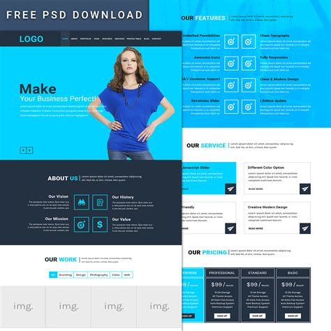 Freepsdhtml Download Free Psd Templates Download Free Html Templates Download Free Aesthetic Website Template