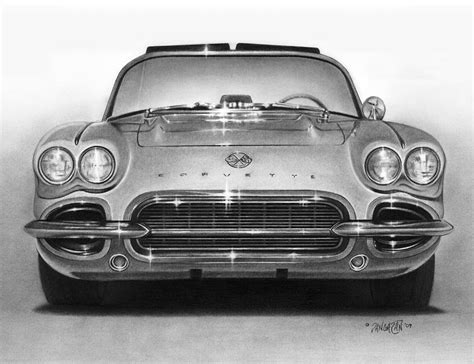 vintage corvette drawing 62 corvette drawing by tim dangaran