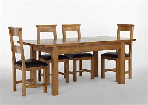 knightsbridge oak extending dining table 4 or 6