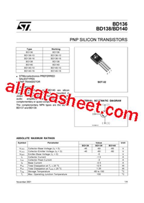 transistor bd140 16 transistor bd140 datasheet pdf 28 images bd140 16 datasheet pnp silicon transistors bd136
