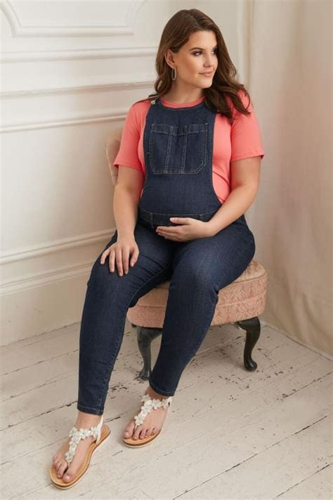 bump   maternity indigo blue denim super stretch
