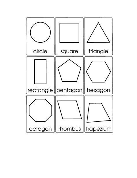2d Shape Templates 15 best images of worksheets 3d shapes printable 3d