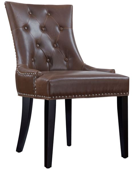 blythe vintage leather chair brown dining chairs uptown antique brown leather dining chair set of 2 from