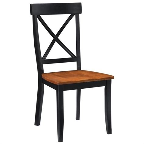 Dining Chair In Black And Cottage Oak Set Of 2 5168 802 Black And Oak Dining Chairs