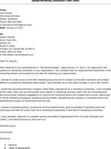 Cover Letters For Marketing by Sales Marketing Cover Letter