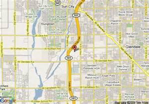 map of residence inn glendale glendale