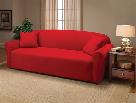 red couch cover red sofa slipcover home furniture design