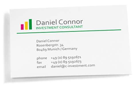 Visitenkarten Telefonnummer Schreibweise by Visitenkarten Ratgeber B 252 Robedarf Bei Office Discount