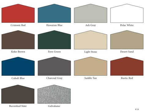 galvalume roof colors metal colors sc 1 st indaco metals