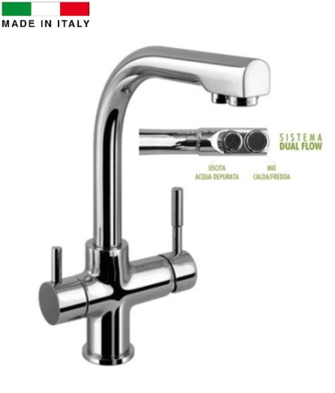 rubinetti a tre vie miscelatore tre vie collo alto per depuratori acqua in