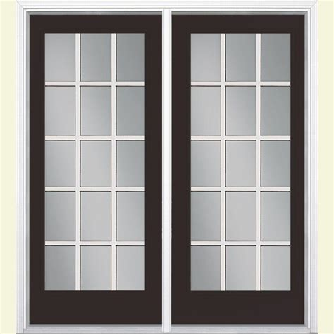 Masonite 72 In X 80 In Willow Wood Prehung Left Hand Masonite Patio Doors