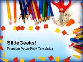 Powerpoint Templates For School by School Supplies Education Powerpoint Template 1010