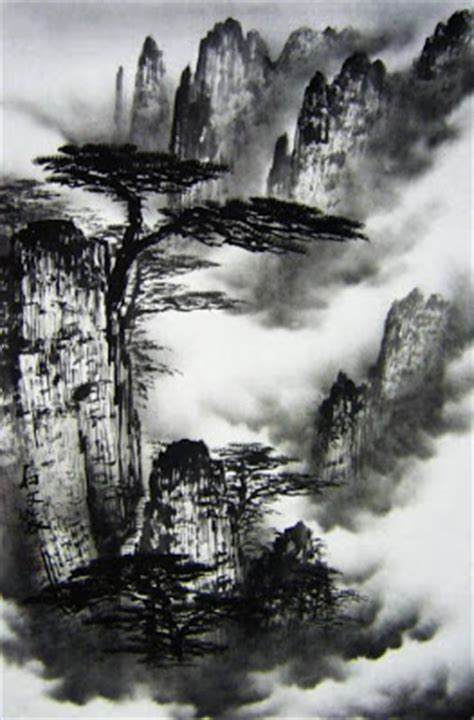 oriental mountain tattoo painting information oil painting water color painting