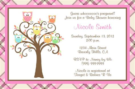 owl themed baby shower invitation template owl baby shower invites template best template collection