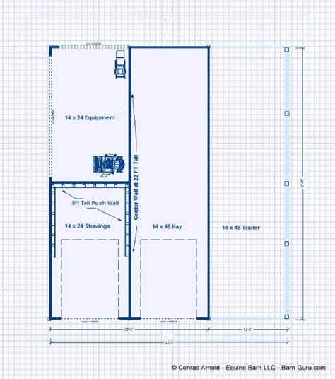 Floor Plan Company Hay Shavings Trailer Storage Building